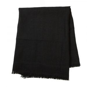 Jute Tafelkleed Zwart met Rafels