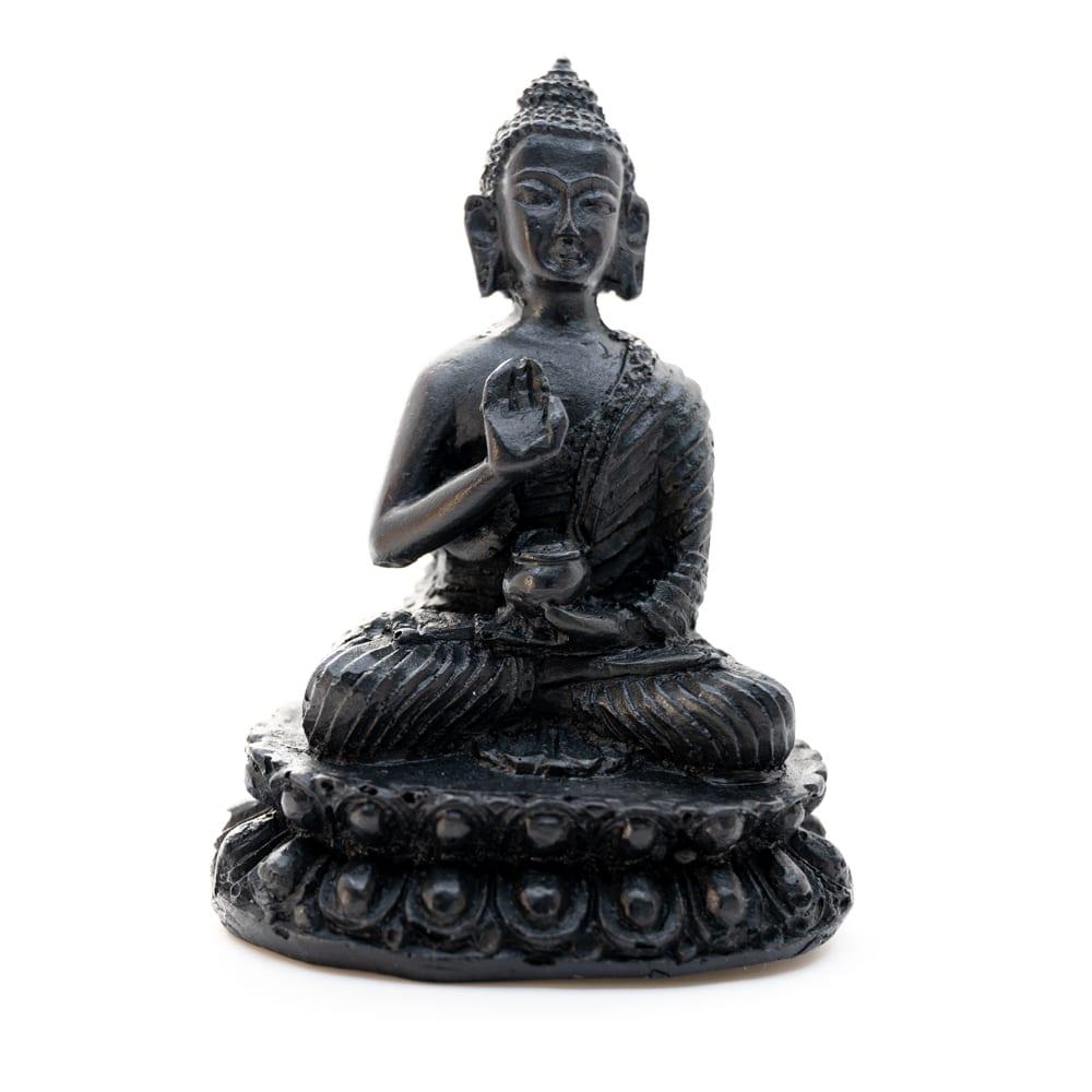Spiru Boeddha Beeld- Zwarte afwerking - Teaching (10 cm)