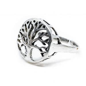 Verstelbare Ring Tree of Life Zilverkleurig (20 mm)