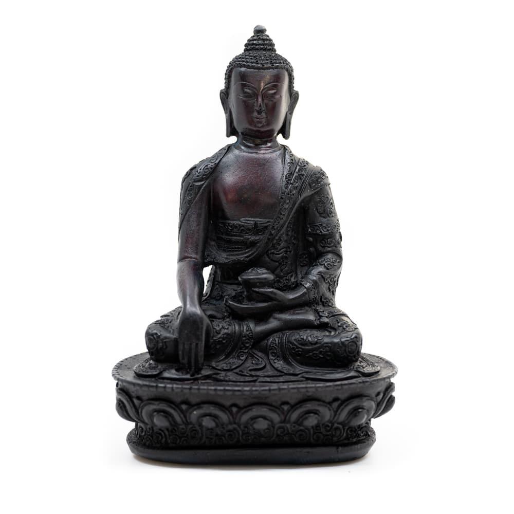 Spiru Zittende Boeddha - Zwarte afwerking (18 cm)