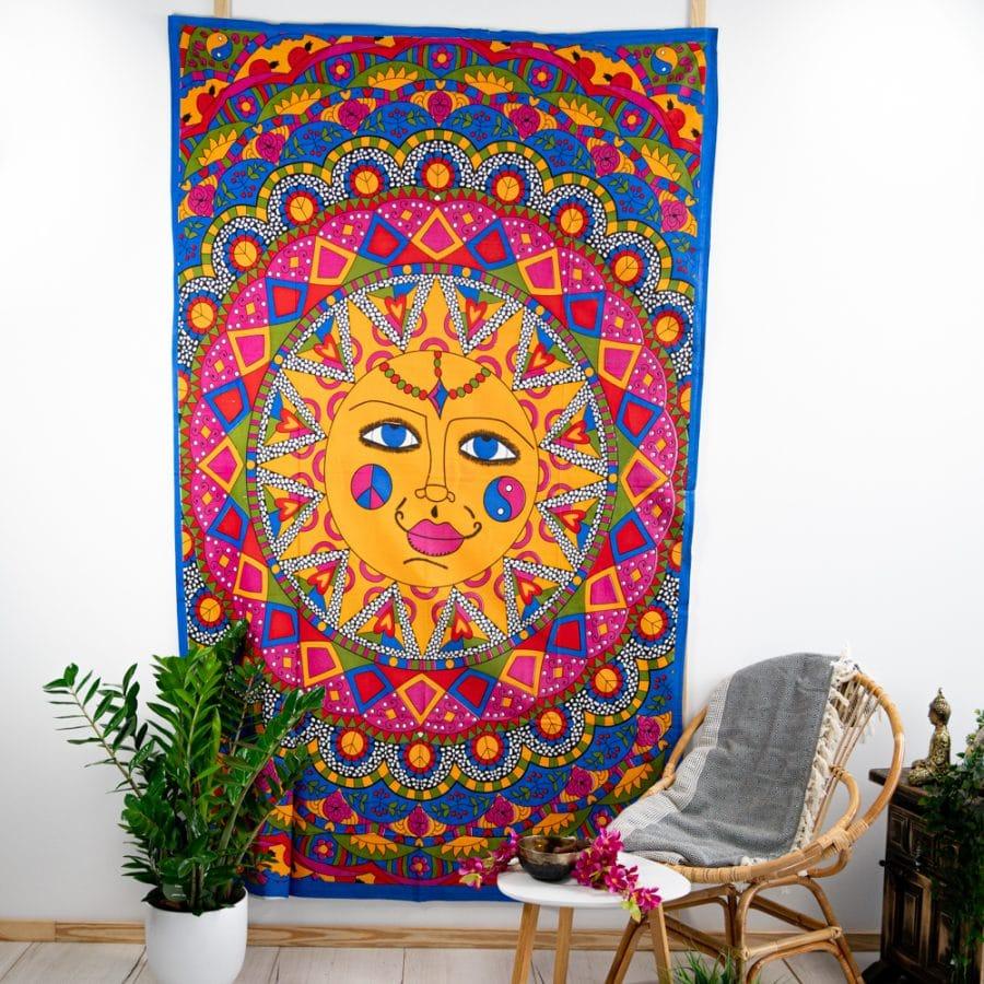 wandkleed spiritueel mandala zon bohemian tintje