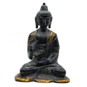 Boeddha Beeld Antieke Finish - Messing - Teaching (12 cm)