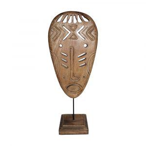 Decoratief Masker van Mangohout op Standaard (48 cm)