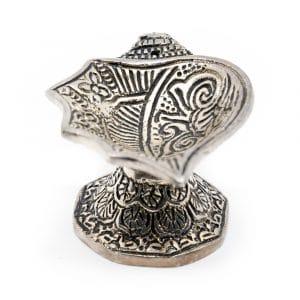 Traditionele Wierook Kegeltjes Brander Zilverkleurig