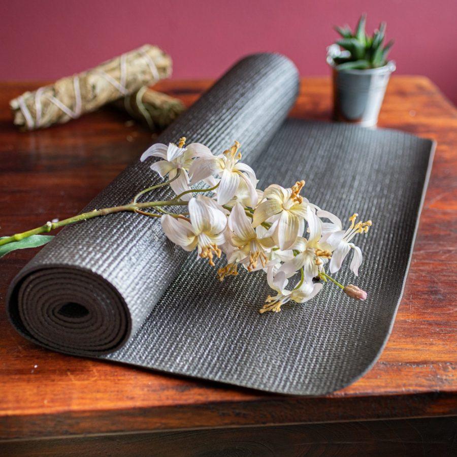 yogamat zwart pvc