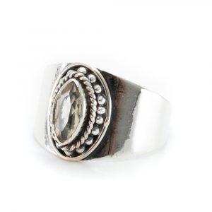 """Edelsteen Ring Citrien 925 Zilver """"Esahni"""" (Maat 17)"""