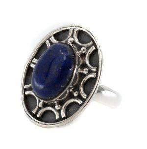 "Edelsteen Ring Lapis Lazuli 925 Zilver ""Dissada"" (Maat 17)"
