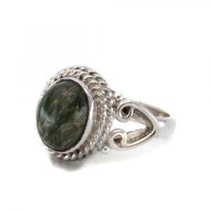 """Edelsteen Ring Seraphiniet 925 Zilver """"Nifih"""" (Maat 17)"""