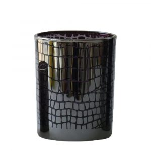Waxinelichthouder Croco Zilverkleurig (12,5 x 10 x 10 cm)