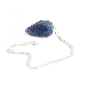 Pendel Edelsteen Sodaliet Diamant Geslepen