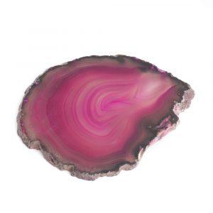 Onderzetter Schijf Roze Agaat Middel (6 - 8 cm)