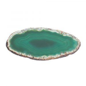 Schijf Groene Agaat Middel (6 - 8 cm)