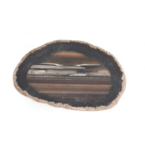 Schijf Zwart Agaat Middel (6 - 8 cm)