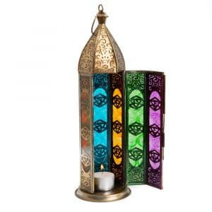 Sfeerlicht Oosterse Lantaarn Zeven Chakra's Goudkleurig (30 cm)
