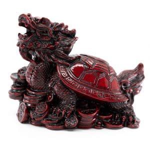 Beeld Feng Shui Draken Schildpad voor Rijkdom (100 mm)