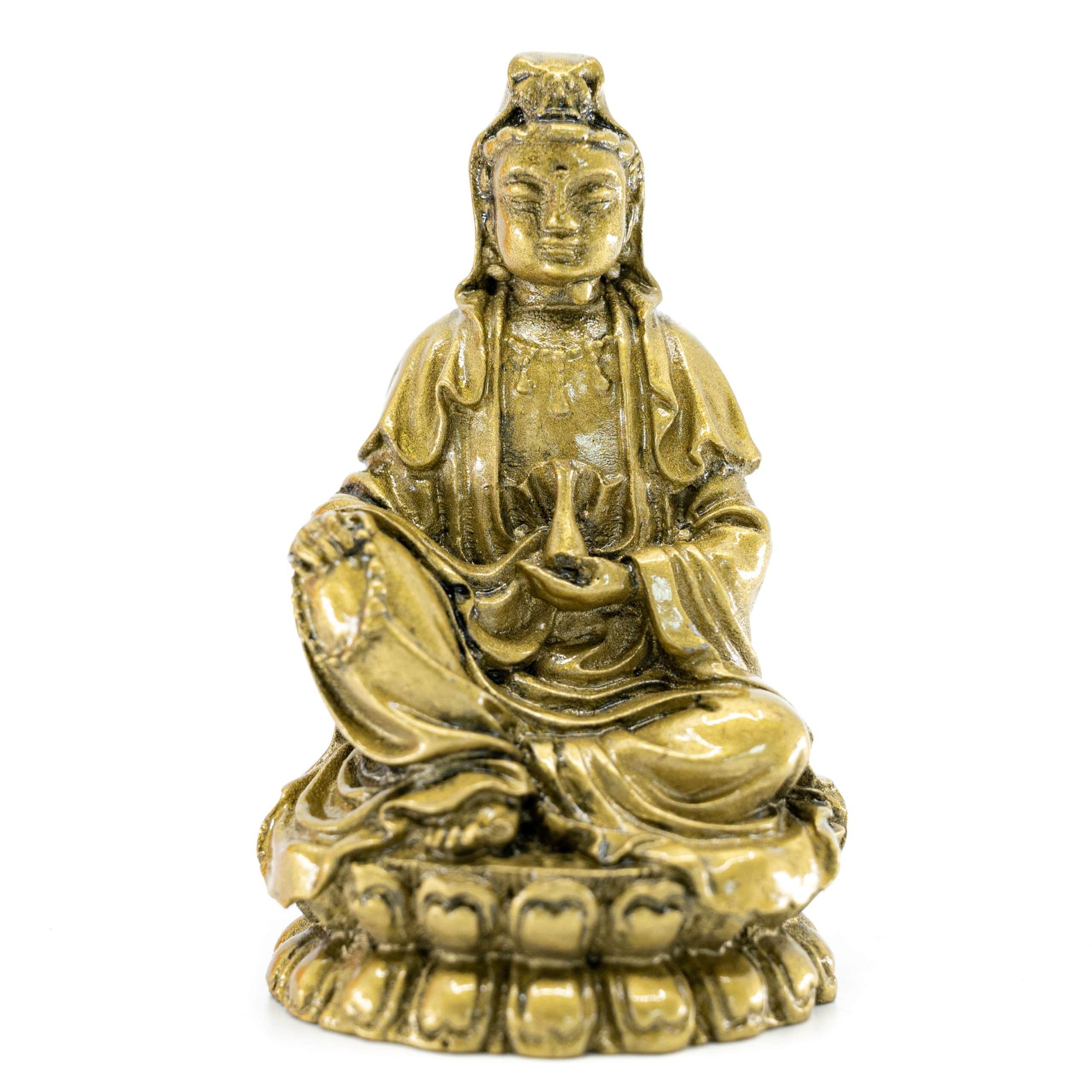 Spiru Medicijn Boeddha Goudkleurig (8,5 cm)