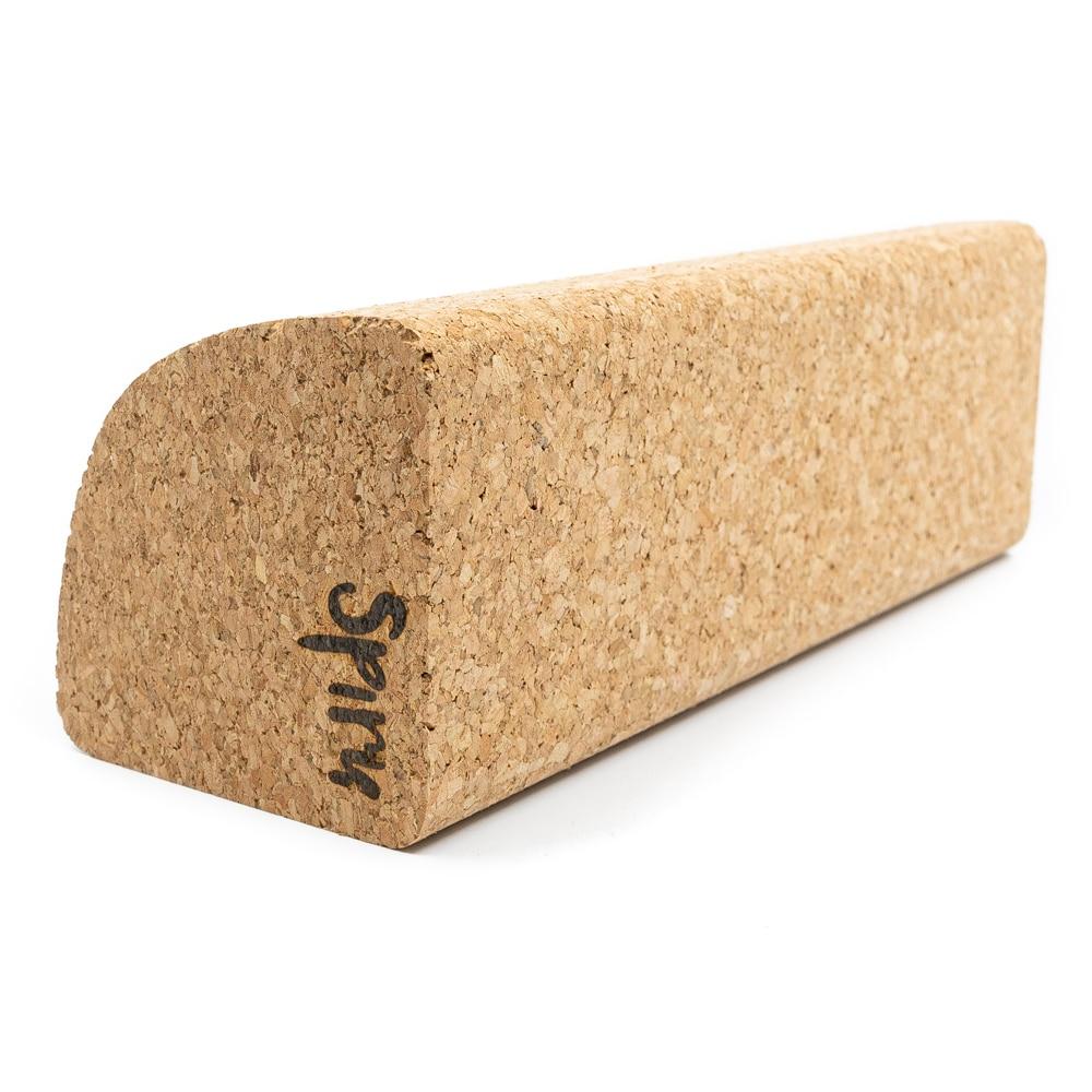 Spiru Yoga Blok Eco Kurk Half Rond - 23 x 8 x 8 cm